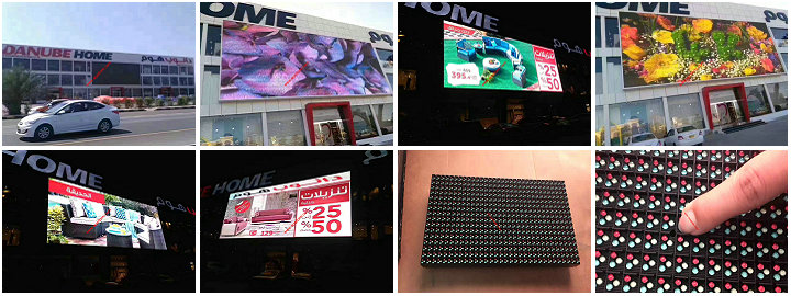 Oman Nation star P10 outdoor video LED wall