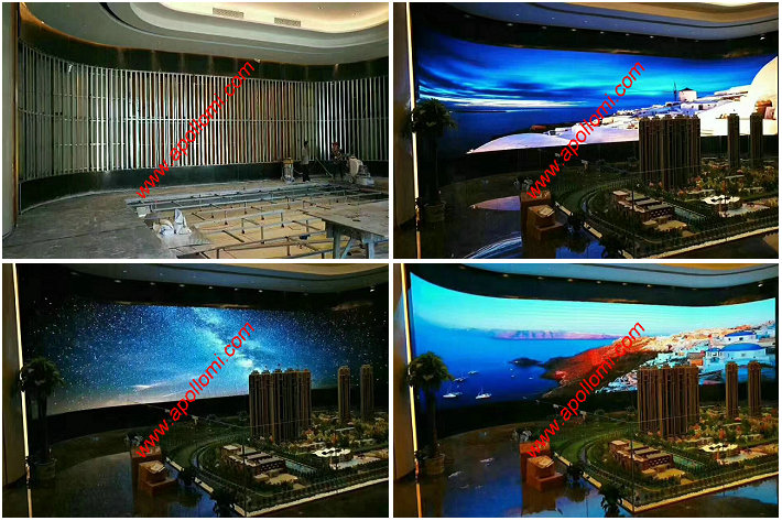 PH3mm arc video led wall screen installation
