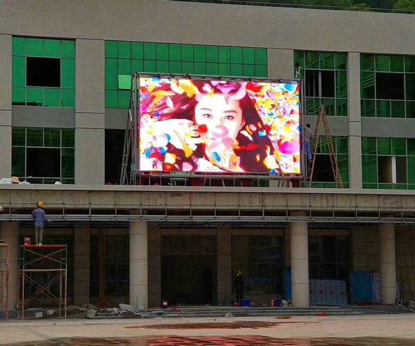 HK Outdoor PH8mm video LED Wall Installation