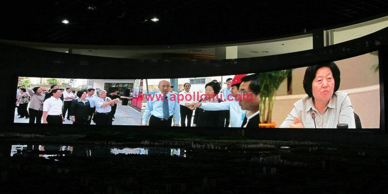 108sqm Curve Indoor P4 SMD Led Screen In Malaysia Hotel