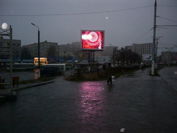 Russia one pole P10 video media led screen