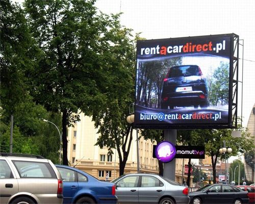 Outdoor P10 Full Color Led Screen in Poland
