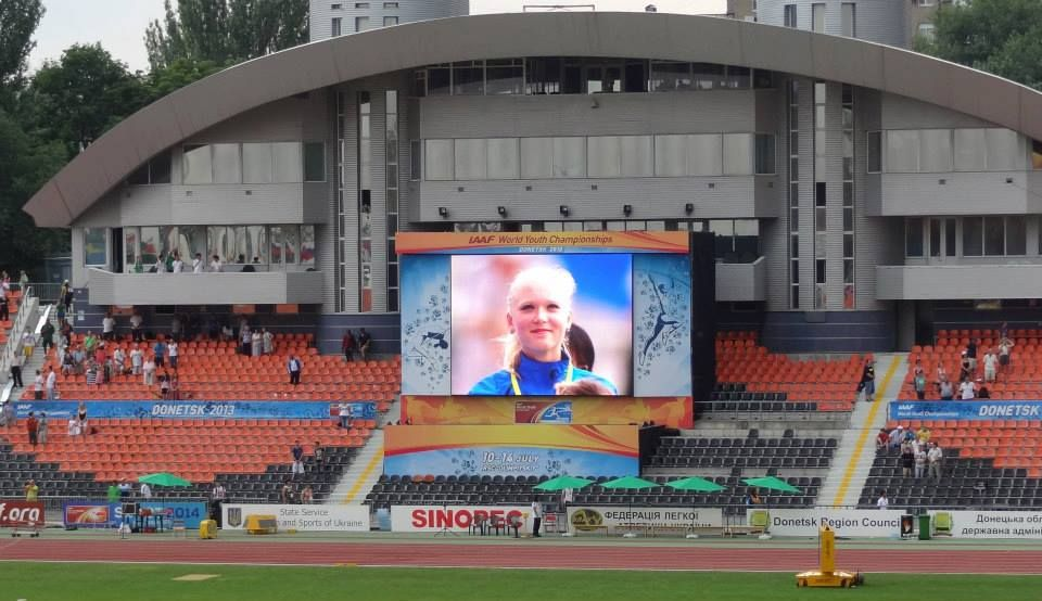 LED Screen on IAAF World youth Championship in Donetsk
