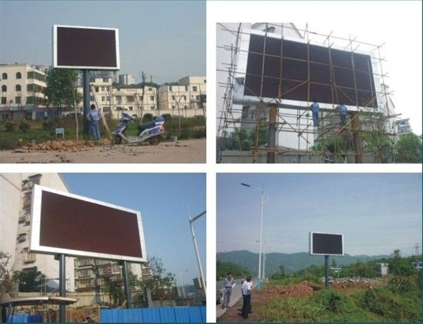 outdoor led screen panel installation