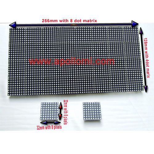 F3.0-Ph4mm Red matrix dot led screen module