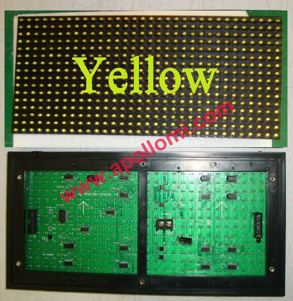Ph10mm 1Y-amber outdoor led screen modules
