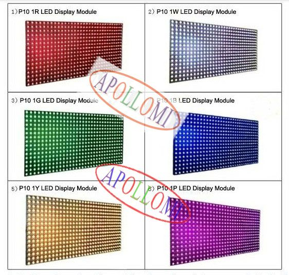 Ph10mm 1W outdoor led screen modules