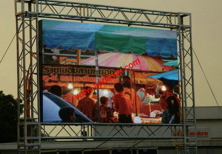 Thailand Ph10mm 12SQM Outdoor Rental LED Screen