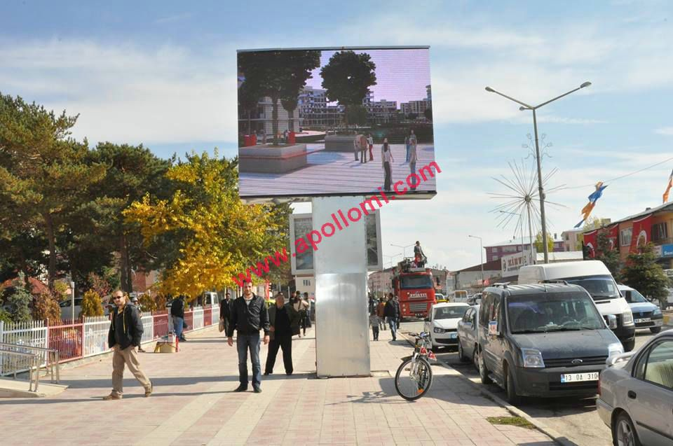 Chile 12sqm outdoor 10mm advertising pole led billboard